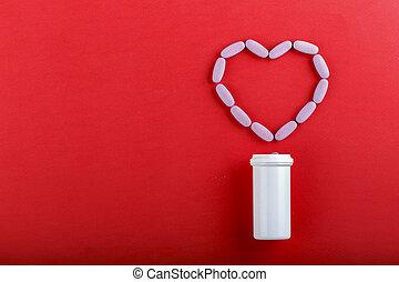 heart shaped pills