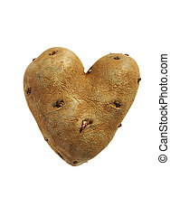 Healthy choice for dinner, this potato grew in the garden into this heart shape.