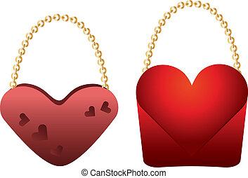 Heart shaped purses