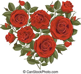 Heart shaped rose bush