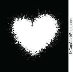 Heart shaped scribble frame