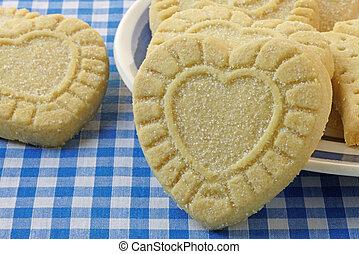 Heart Shaped Shortbread Cookies - Heart shaped shortbread ...