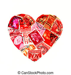 Heart shaped stamps