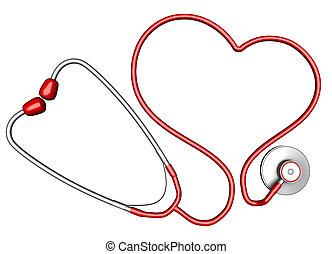 Heart-shaped stethoscope - Heart-shaped stethoscope....