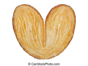 heart shaped sugar biscuit