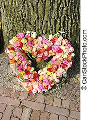 Heart shaped sympathy flowers - Heart shaped sympathy...