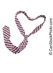 heart shaped tie - a tie forming a heart on a white ...