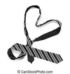 heart-shaped tie