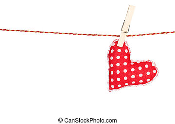 Heart shaped toy hanging