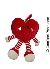 heart shaped toy isolated in white
