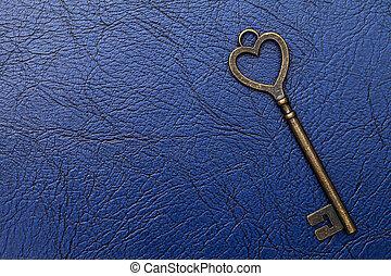 heart shaped vintage key
