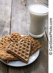Heart shaped waffles