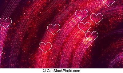 heart shapes loopable romantic back - heart shapes. computer...