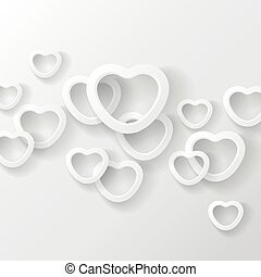 Heart shapes on white background.