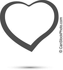Heart sign black icon on a white background