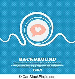 Heart sign. Blue and white abstract background flecked with space for text and your design. Vector