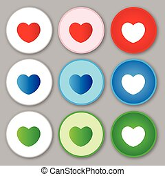 Heart sign icon love vector