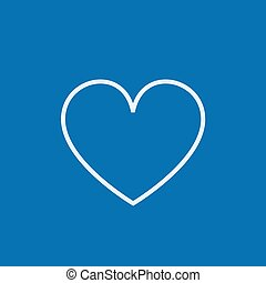 Heart sign line icon.