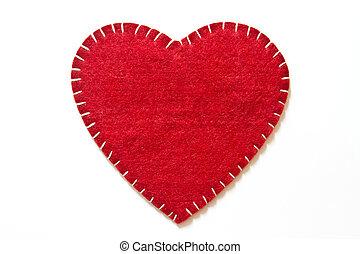 Heart sign velvet