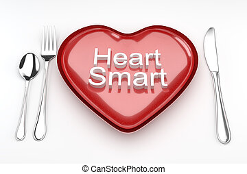 Heart smart concept. - Heart smart concept, heart shaped...
