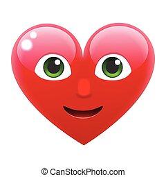 Heart Smile Emoticon. Heart Emoji