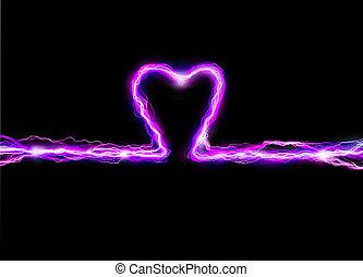 Heart Spark - Pink heart plasma spark