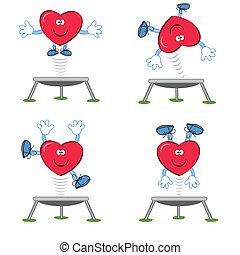 Heart- sportsman  - Heart on the trampoline.