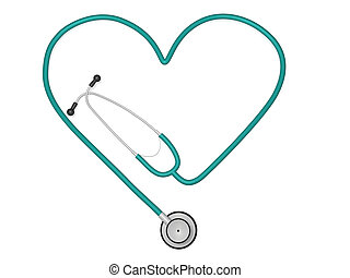 Heart Stethoscope - Image of a stethoscope in the shape of a...