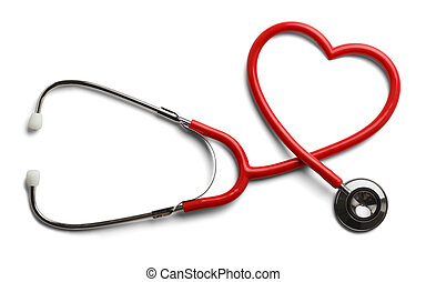 Heart Stethoscope - Red Stethoscope in Shape of Heart...