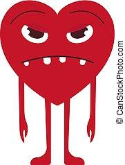 Heart sticker character. Vector design.