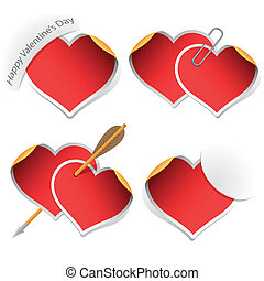 Heart stickers collection