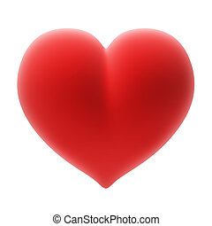 heart - Heart on the isolated white background
