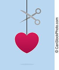 Heart String Scissors