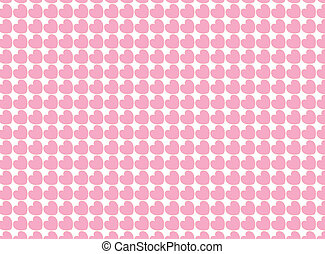 Heart Striped Fabric Background - Vector swatch heart...
