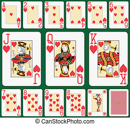 Heart suit large index - Playing cards, heart suit, joker...