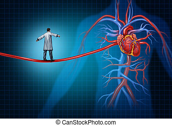Heart Surgery Concept - Heart surgery concept as a cardiac...