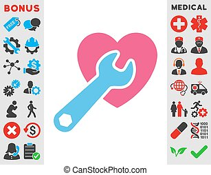 Heart Surgery Icon - Heart Surgery vector icon. Style is ...