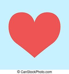 Heart symbol icon vector sign love illustration