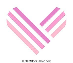 Heart symbol isolated on white background