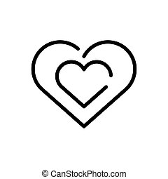 heart symbol, line style icon