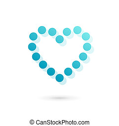 Heart symbol logo icon design template