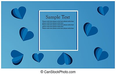 Heart symbol on the blue background