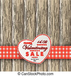 Heart Table Heart Valentinstag Wooden Background - White...