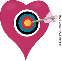 Heart shaped bullseye a heart shaped archery target with vectors heart target altavistaventures Images