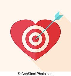 Heart target with arrow
