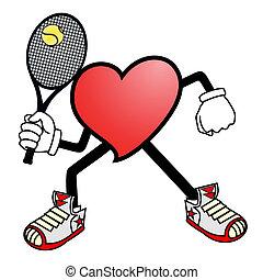 Heart tennis sport - Creative design of heart tennis sport
