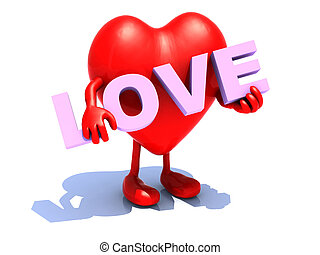 heart that embraces word love