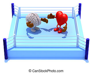 Heart that is fighting with the brain