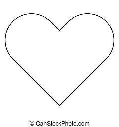 Heart the black color icon .