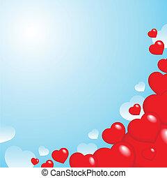 Heart theme background 2 - vector illustration.